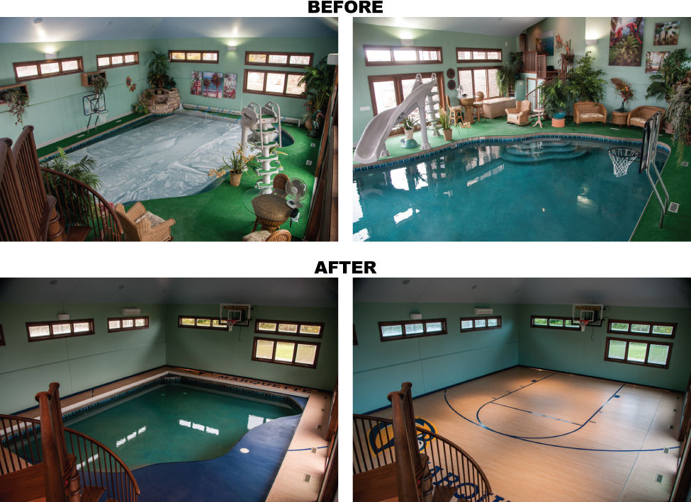 Solid floor pool cover that is retractable