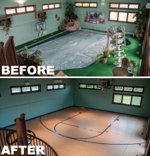 Retractable pool cover case studies and before and afters.